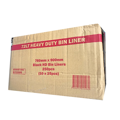 72L HEAVY DUTY BLACK 250PCS - JP Supplies