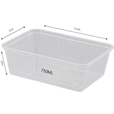 CONTAINER RECTANGULAR 750ML 500PCS - JP Supplies