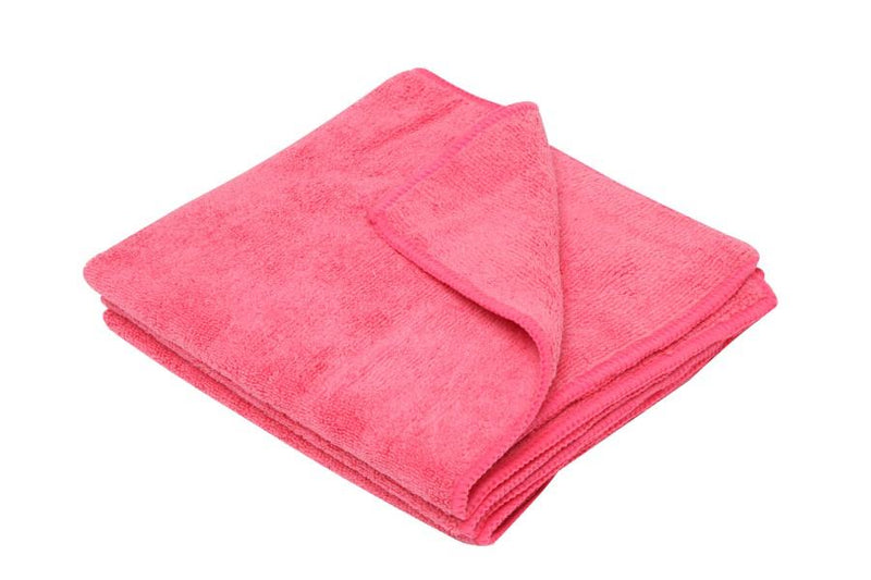 CLOTH MICROFIBRE RED 3PCS - JP Supplies