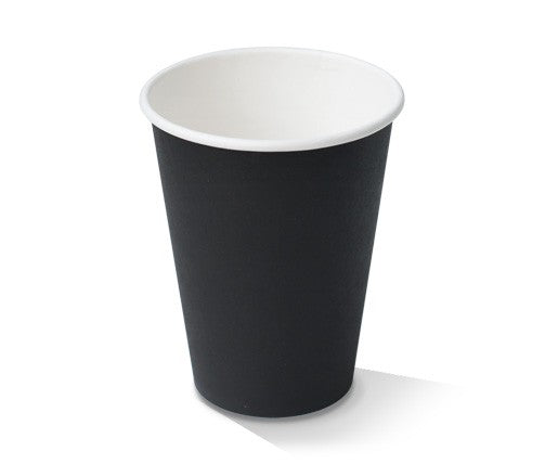 CUP PAPER 12OZ BLACK 1000PCS PAC - JP Supplies