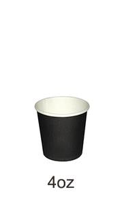CUP PAPER 4OZ BLACK 1000PCS PERFECT - JP Supplies