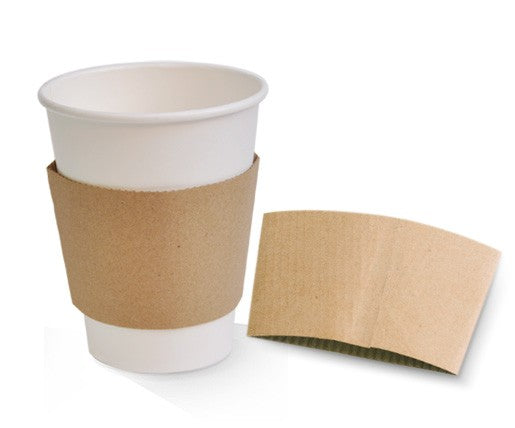 CUP SLEEVE KRAFT 8OZ 1000PCS PAC - JP Supplies