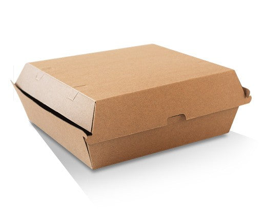DINNER BOX CORRUGATED PLAIN BROWN 150PCS - JP Supplies