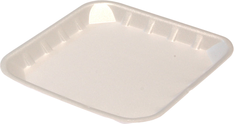 FOAM TRAY SHALLOW 5X5 WHITE 1000PCS - JP Supplies
