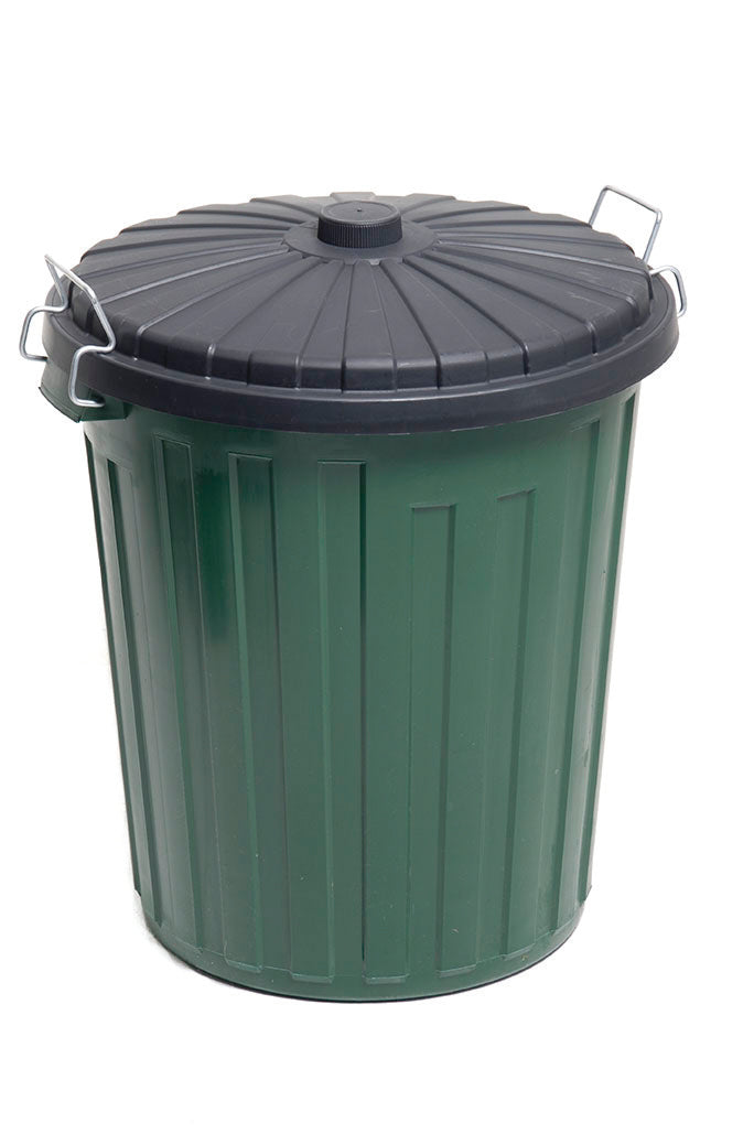 GARBAGE BIN PLASTIC BLACK 75L - JP Supplies