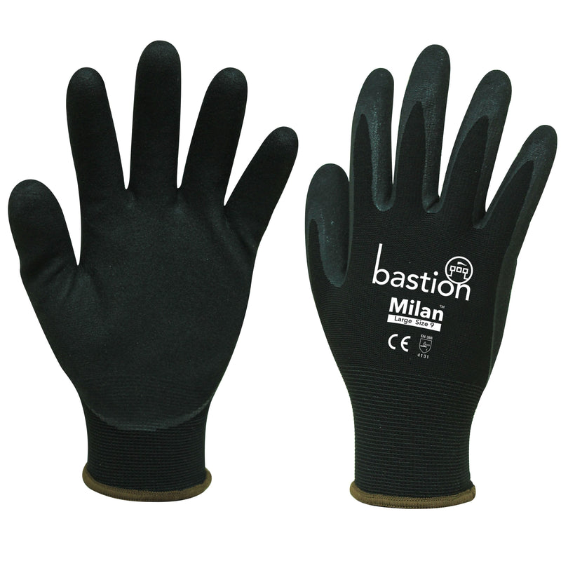 MILAN GLOVE BLACK LARGE - JP Supplies