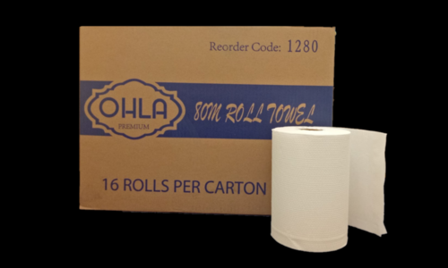ROLL TOWEL 80M WHITE PREMIUM - JP Supplies