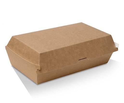 SNACK BOX CARDBOARD REGULAR BROWN 250PCS - JP Supplies