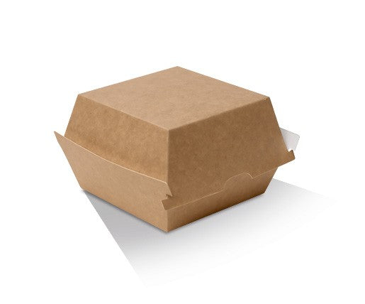 BURGER BOX CARDBOARD BROWN 500PCS - JP Supplies