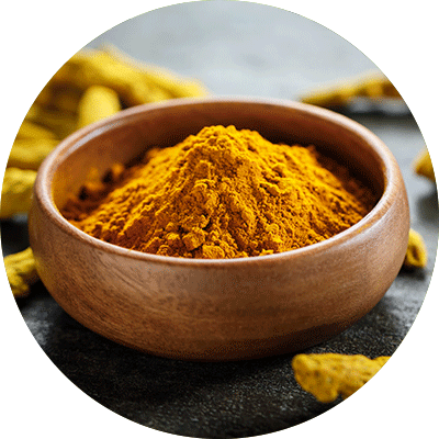orange turmeric powder