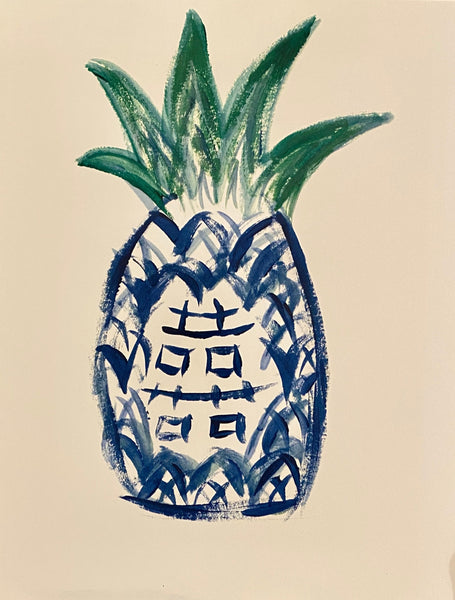Chinoiserie Pineapple Print