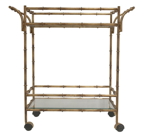 dessau bamboo tea cart
