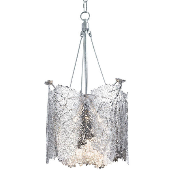 Sea Fan Chandelier - Polished Nickel