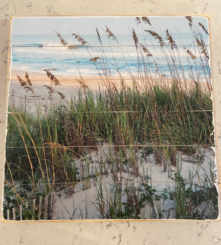 Beach Scene Wooden Art by Lori Balch