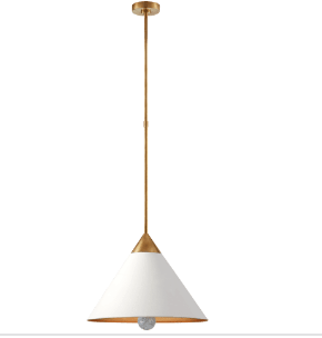 Cleo Pendant in Antique-Burnished Brass