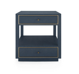 Carmen 2-Drawer Side Table, Navy Blue