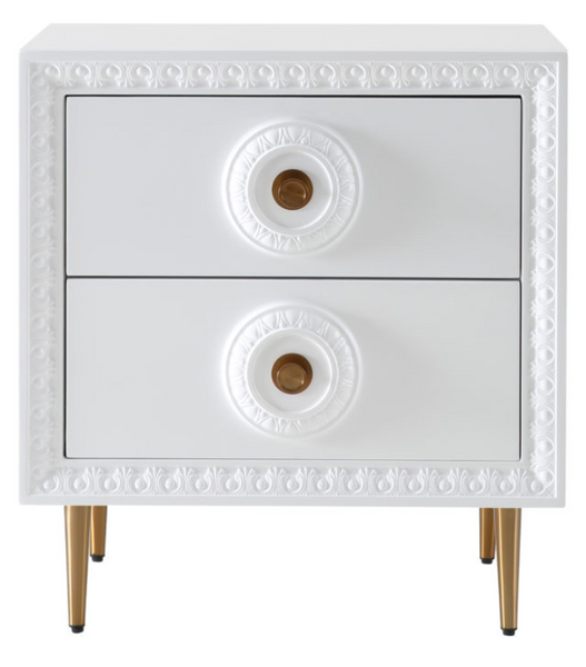 Bovey White End Tables