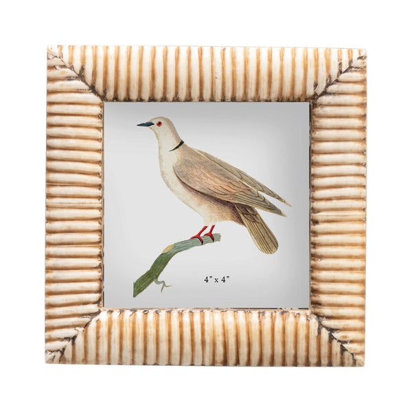Hand Carved Bone Photo Frame, Natural