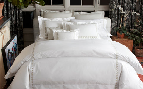 Matouk Classic Chain Duvet Cover Collection