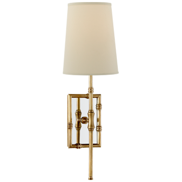 Grenol Bamboo Sconce with Natural Percale Shade