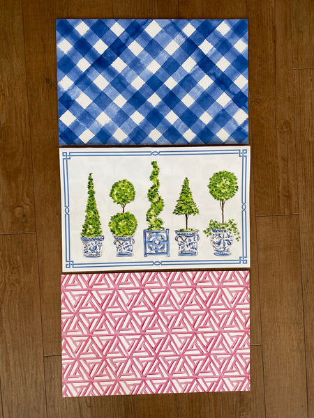 Topiary and Watercolor Placemats