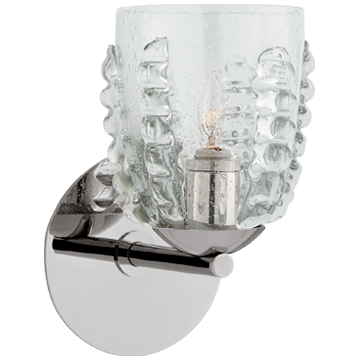 Gisela Single Sconce with Seeded Glass