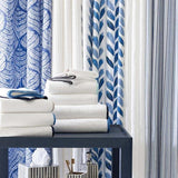 Blue Brush Shower Curtain