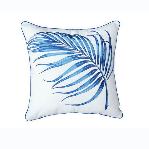 Blue Parlor Palm Pillow