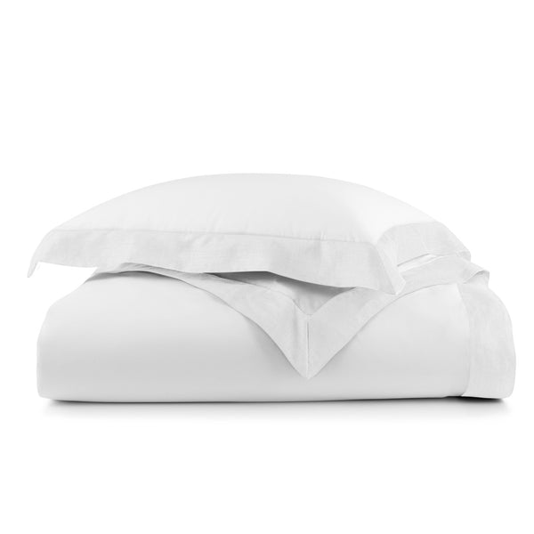 Peacock Alley Mandalay Linen Cuff Duvet Collection