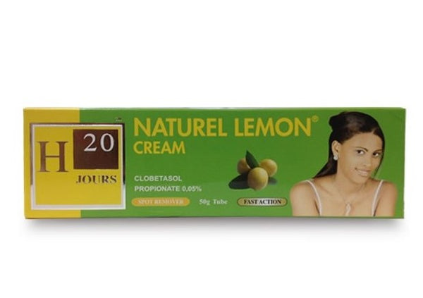 H20 Natural Lemon Cream Tube 2.11 oz / 60g - a1beaute