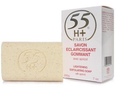 55H+ Gommant Exfoliating Soap with Apricot 7 oz / 200 g - a1beaute