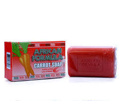 African Formula Exfoliating Carrot Soap w/ Vitamin A 3.0oz / 85g - a1beaute