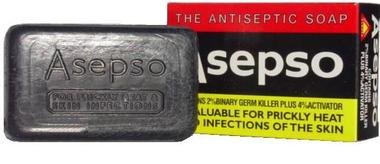 Asepso Prickly Heat Antiseptic Soap 3 oz / 80 g - a1beaute