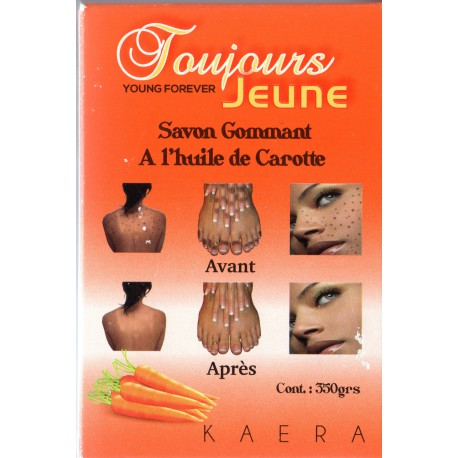 Toujours Jeune Exfoliating Soap with Carrot 350g - a1beaute