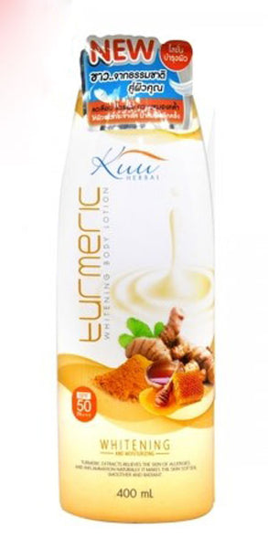 KUU Turmeric Whitening Body Lotion 400ml - a1beaute
