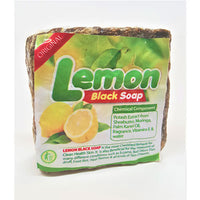 Cosmethings 100% Natural African Lemon Black Soap 16 oz - a1beaute
