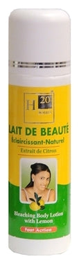 H20 Natural Lemon Lightening Body Milk Lotion 16.9 oz / 500 ml - a1beaute