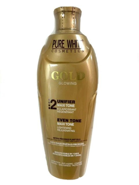 Pure White 2 Gold Glowing Even Tone Maxi Tone Lotion 400 ml - a1beaute