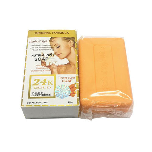 Nutri Glow Soap 24k Gold Glutha & Kojic White with carrot 250g - a1beaute