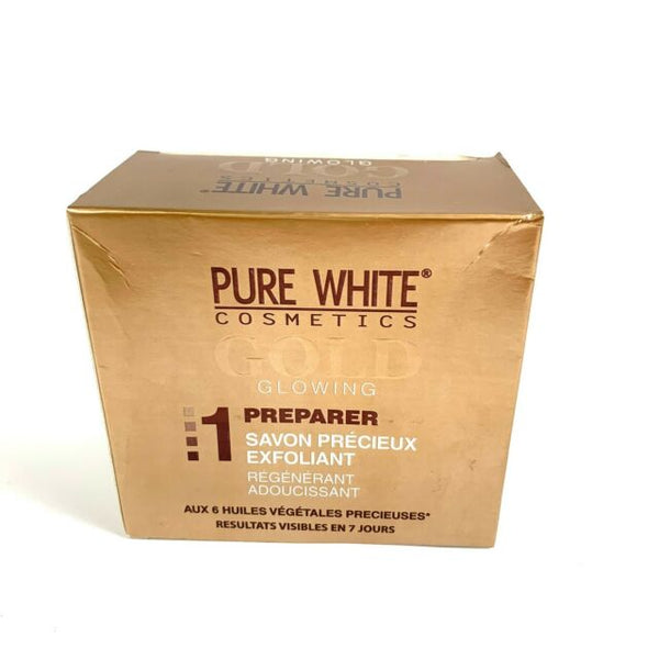 Pure White Gold Glowing 1 Prepare Precious Exfoliating Soap 150 g - a1beaute
