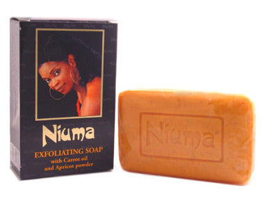 Niuma Exfoliating Soap with Carrot oil and Apricot power 7 oz / 200 g - a1beaute