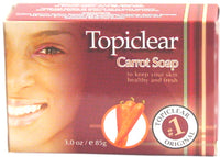 Topiclear Carrot Soap 3 oz / 85 g - a1beaute