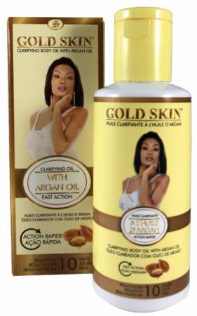 Gold Skin Clarifying Body Oil With Argan Oil 2.33oz - a1beaute