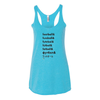 Women's Tank Tops Football Words