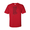 T-Shirts Football Words