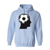 Hoodies Soccer Ball Brain