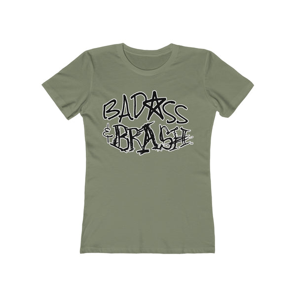 Badass and Brash Logo Outline Women's T-Shirt
