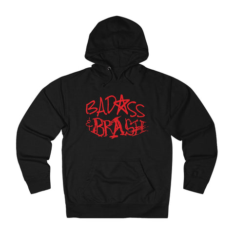 Badass and Brash Red Logo Pullover Hoodie