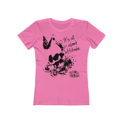 Attitude Women's T-Shirt (Design in Black)