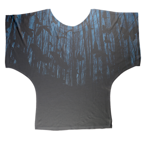 Crows and Butterflies AOP Batwing Top